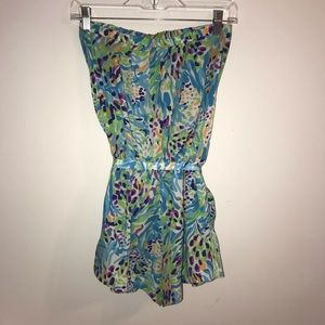 Lilly Pulitzer Pants - Lilly Pulitzer Colleen Romper in Sea Soirée Print